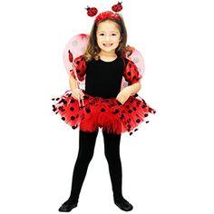 Uğur Böceği Kız Çocuk Kostümü 7-9 Yaş, uğur böcekli doğum günü kıyafetleri