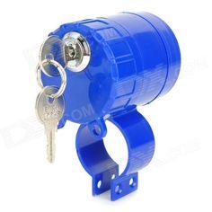 Anti-Theft Rainproof Alarm Lock for Bicycle Motorcycle - Blue Price: $9.10