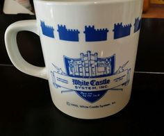 """Vintage WHITE CASTLE HAMBURGERS """"The Taste For All Times"""" COFFEE MUG CUP"""