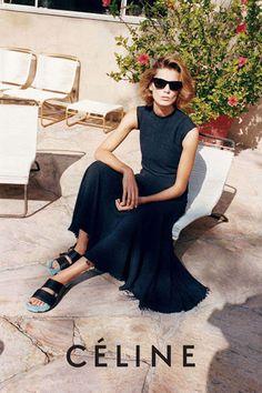Daria Werbowy dans la campagne Céline printemps-été 2013.