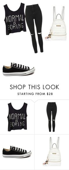"""""""Untitled #90"""" by lovefashion223 ❤ liked on Polyvore featuring Topshop, Converse and River Island"""