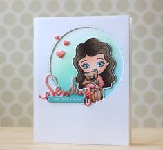 Love this Sweet card by Laura Bassen using Simon Says Stamp Exclusives for the SSS Blog.