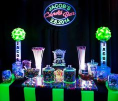 Neon Candy Bar for this Bar Mitzvah celebration.