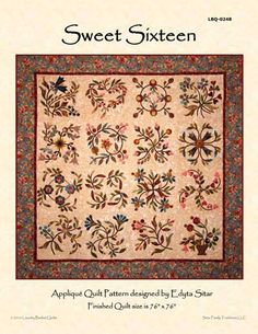 Sweet Sixteen Block of the Month - Waiting List - Stitchin' Heaven is your premier Texas quilt shop Star Quilts, Mini Quilts, Quilt Blocks, Quilting Tutorials, Quilting Designs, Quilting Ideas, Quilting Projects, Texas Quilt, Laundry Basket Quilts