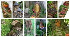 Have you been searching for inspiration for your fairy garden? There are so many fairy garden ideas out there, you will love all of these magical ideas! Whimsical, Outdoor Structures, Texture, Wood, Fairy Gardens, Amazing, Searching, Crafts, Garden Ideas