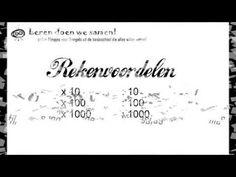 Rekenvoordelen - vermenigvuldigen met en delen door 10, 100 en 1000 - YouTube