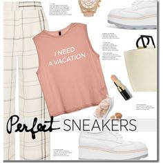 i need a vacation by eilselrenrag on Polyvore featuring Protagonist, Prada, Solid & Striped, Bobbi Brown Cosmetics and whitesneakers