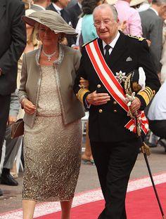 Italian-born H.R.H. Queen Paola of Belgium and King Albert II of Belgium