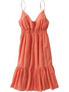 Chiffon sundress | Broomstick Gauze Sundress in tropical sunset, Old Navy, $29.50