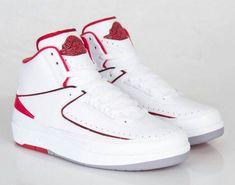 "Air Jordan (Retro) 2's ""Varsity Red"" -#shoesmen #men #shoes #menshoes"
