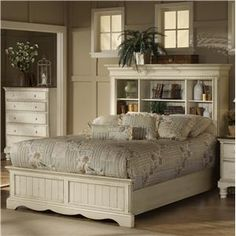 Wilshire King Book Case Headboard Bed by Hillsdale - Morris Home Furnishings - Bookcase Bed Dayton, Cincinnati, Columbus Ohio