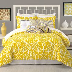 Duvet / Yellow and Grey