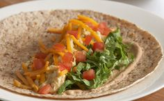 Breakfast: Epicure's Quick Breakfast Burrito (190 calories/serving) serve with your favourite fruit