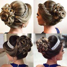 "image by Sonia Lopes (@penteadossonialopes) with caption : ""Coque  #PenteadosSoniaLopes ✨ . . . #sonialopes #cabelo #penteado #noiva #noivas #casamento #hair #hairstyle #weddingh"" - 1525424425338487820"
