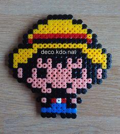 Luffy - One Piece hama beads by Deco.Kdo.Nat