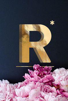 Flower Alphabet R als Premium Poster von neon* fotografie Flower Alphabet, Alphabet Print, Stylish Alphabets, Alphabet Wallpaper, Birthday Wishes Cards, Lettering Tutorial, Neon, Typography Poster, Typography Letters