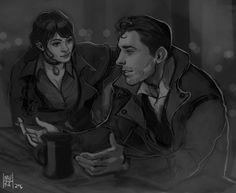 """mortauxtempliers: """" Dorothy C. & Emmett Frye - children of Jacob Frye and Elizabeth Frye-Hulbert ↳ made by the beautiful, talented @mureh Participate in our monthly OC-Share Project! """""""