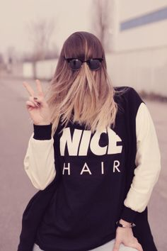 Annalisa from Moustachic in the Alex & Chloe Nice Hair Tee in Black.