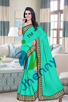 Turquoise Sarees online @ Rs. 2688