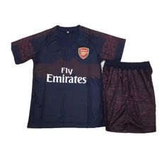 Kids Arsenal Away Soccer Jersey Kit Children Shirt   Shorts Jerseys 1ed846fa4