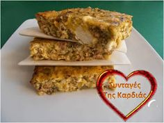 Σφουγγάτο με κιμά και κολοκύθια Greek Recipes, I Foods, Lasagna, Banana Bread, French Toast, Food Porn, Cooking, Breakfast, Ethnic Recipes