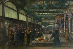 John Hodgson Lobley - Wounded Passing through Snow Hill Railway Station, Birmingham (c.1918)