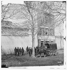 "1865 Alexandria, Va - 3 story brick house marked ""Price Birch & Co., dealers in slaves."" 1300 block Duke St."