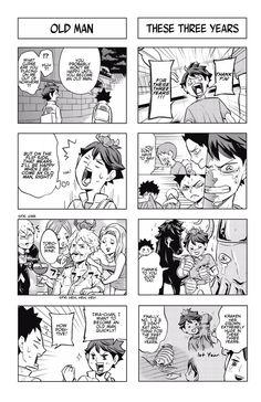 翻訳家の漫言 (Posts tagged let's haikyuu) Haikyuu Funny, Haikyuu Manga, Haikyuu Fanart, Oikawa Tooru, Iwaoi, Kageyama, Haruichi Furudate, Comic Panels, All Family