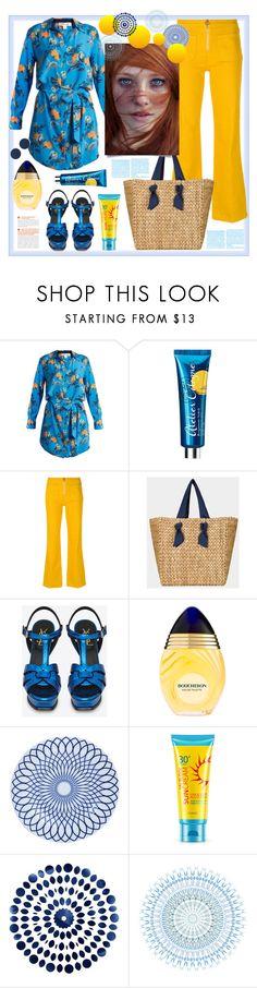 """Blue and orange"" by natalyapril1976 on Polyvore featuring Mode, Diane Von Furstenberg, Atelier Cologne, Tory Burch, Yves Saint Laurent und Topshop"