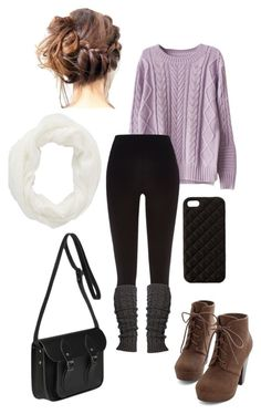 New York Outfit by lili-c on Polyvore featuring River Island, The Cambridge Satchel Company, Charlotte Russe and The Case Factory