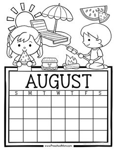 Free set of Calendar for students to Write and Color. This set is super cute and features monthly themes and holidays. Perfect for Preschool Daily Caledar Student Calendar, Monthly Calendar Template, Kids Calendar, Daily Calendar, School Calendar, Free Printable Calendar, Calendar Pages, Calendar Ideas, Calendar Design