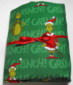 Grinch Christmas Sheet Set  Fits Standard Crib or Toddler Mattress with Pillow Case by KidsSheets on Etsy