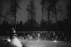 Margareta and Johan's Winter Forest Wedding in Sweden By Loke Roos Photography