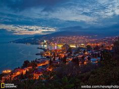 Yalta at dusk #ukraine
