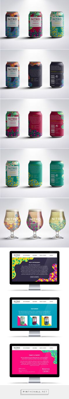 Nitro Brew Co. Nitrogen Infused Tea Packaging by Rachel Buchanan | Fivestar Branding Agency – Design and Branding Agency & Curated Inspiration Gallery