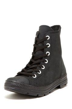 Converse Classic Black Leather Hi-Top Sneaker