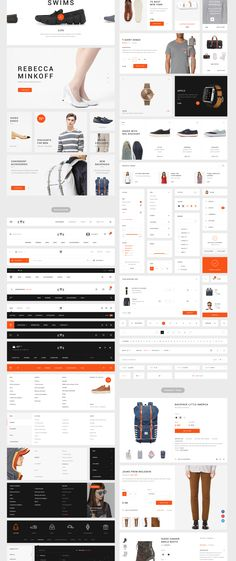 EWE Kit is a new set of user interface elements aimed to create an online store, blog or media portal. The set is designed specifically for web designers with a whopping 160 Blocks, and an additional 1500+ UI Elements. A large number of items to choose from and well organized layers allows you to assemble your unique project at a high level. The set includes 10 essential categories: Banners, Shop, Navigation, Product page, Blog, Media, Form, Widgets, Footer, Basic elements