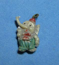 VINTAGE CELLULOID BABY ELMER ELEPHANT CRACKER JACK CHARM PREMIUM JAPAN 1940 S