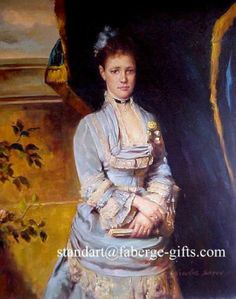 Empress Maria Fedorovna Mother of Nicholas II. Oil on Canvas