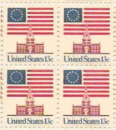 Independence Hall/US Flag Set of 4 x 13 Cent US Postage Stamps NEW Scot 1622 . $10.40. One set of four (4)Independence Hall/US Flag  4 x 13 Cent postage stamps Scot #1622