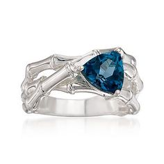London Blue Topaz Ring - I adore this stone's color and shape!!