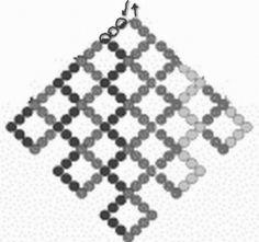 схема ажурного листика из бисера