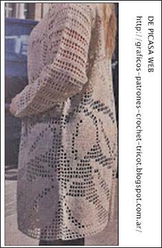CROCHET - GANCHILLO - PATRONES - GRAFICOS: CROCHET DAMA CON SU GRAFICO = CAMPERITA A GANCHILLO CON SU PATRON