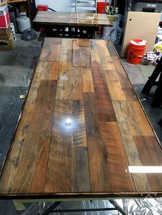 How To Make A Wood Plank Kitchen Table Decor Pinterest Plank