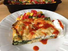 Egg and Spinach casserole #breakfast