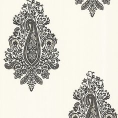 Dynasty Black Paisley Wallpaper design by Brewster Home Fashions
