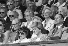 July 1 1987 Diana's 26th birthday Men's Singles, quarter-final match between Ivan Lendl  and Henri Leconte