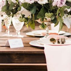From the blush and lilac palette to the long, banquet-style dinner tables, everything about this romantic vinery wedding in San Diego, California is perfection! Vineyard Wedding, Dinner Table, Banquet, Lilac, Place Cards, Table Settings, Wedding Inspiration, Pastel, Romantic