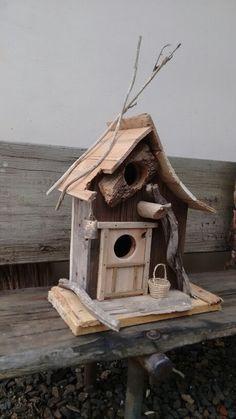 Bird House Feeder, Diy Bird Feeder, Cool Bird Houses, Fairy Houses, Bird House Plans, Birdhouse Designs, Bird Boxes, Bird Tree, Funky Furniture