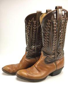 Tony Lama black label cowboy boots w  cats paw heels size 8  TonyLama   880a61c3ea